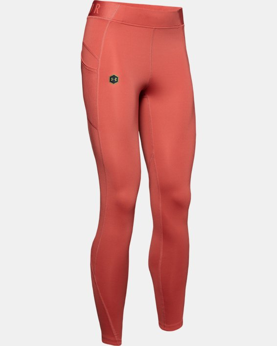 Women's UA RUSH™ ColdGear® Leggings, Pink, pdpMainDesktop image number 4