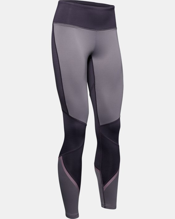 Women's ColdGear® Armour Leggings Graphic, Purple, pdpMainDesktop image number 4