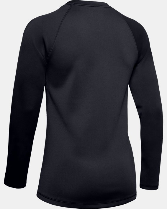 Women's ColdGear® Armour Long Sleeve, Black, pdpMainDesktop image number 5