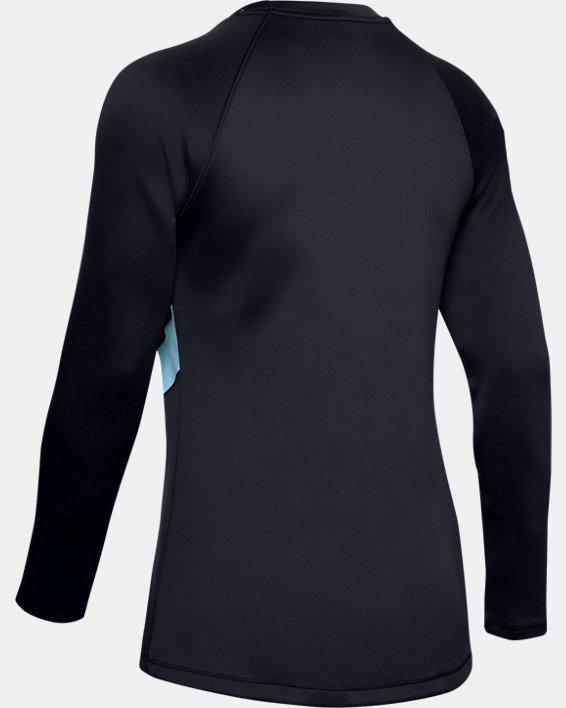 Women's ColdGear® Armour Long Sleeve Graphic, Black, pdpMainDesktop image number 4