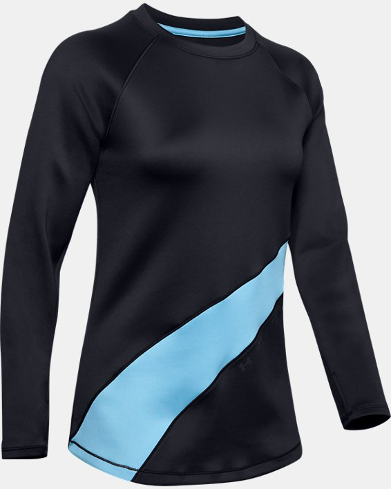 Women's ColdGear® Armour Long Sleeve Graphic, Black, pdpMainDesktop image number 3