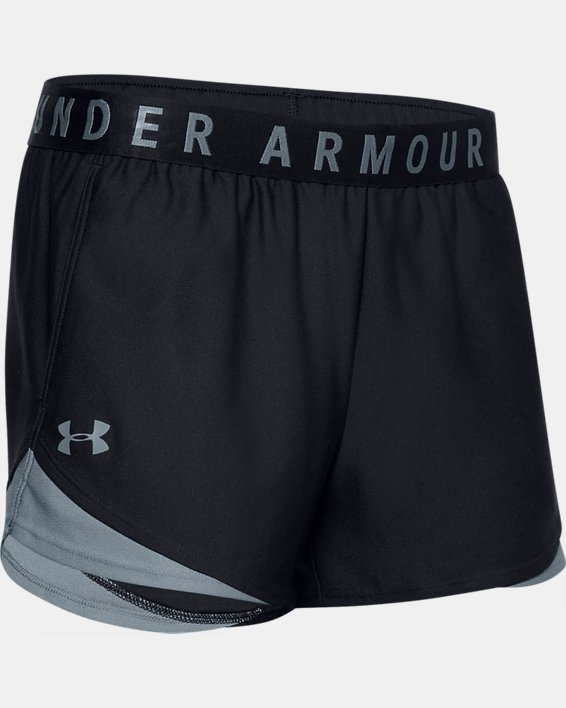 Women's UA Play Up Shorts 3.0, Black, pdpMainDesktop image number 4