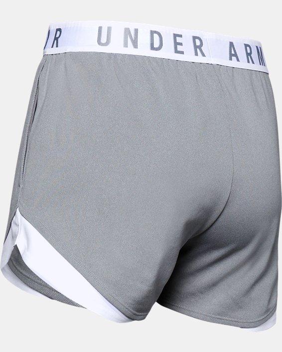 Women's UA Play Up Shorts 3.0, Gray, pdpMainDesktop image number 5
