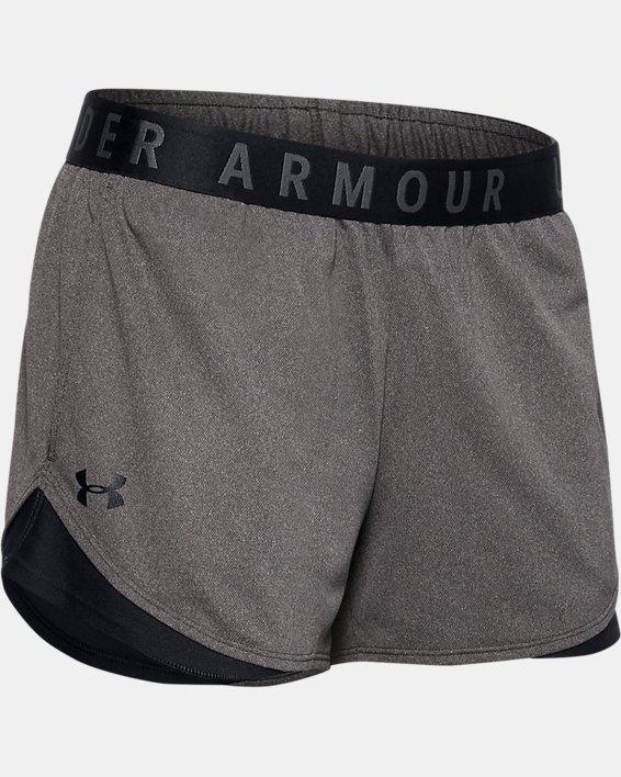 Women's UA Play Up Shorts 3.0, Gray, pdpMainDesktop image number 4