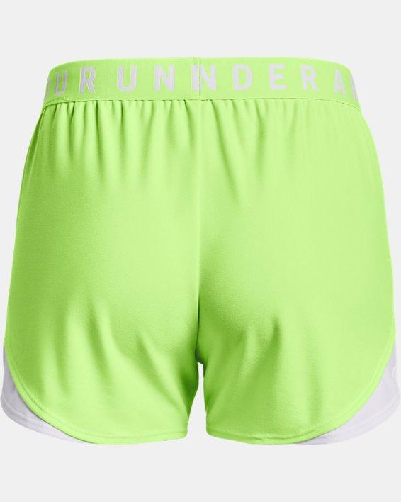 Women's UA Play Up Shorts 3.0, Green, pdpMainDesktop image number 5
