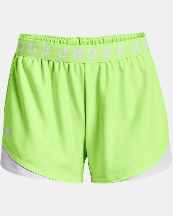 Women's UA Play Up Shorts 3.0, Green, pdpMainDesktop image number 4