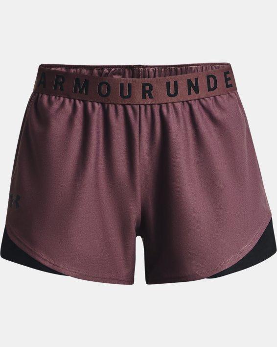 Women's UA Play Up Shorts 3.0, Purple, pdpMainDesktop image number 4