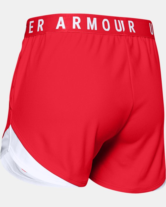 Women's UA Play Up Shorts 3.0, Red, pdpMainDesktop image number 5