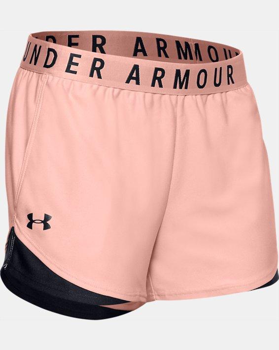 Women's UA Play Up Shorts 3.0, Orange, pdpMainDesktop image number 4