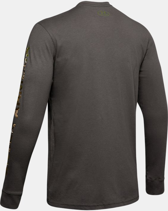 Men's UA Camo Fill Long Sleeve, Gray, pdpMainDesktop image number 5