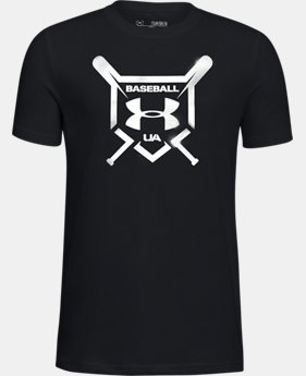 Boys' UA Baseball Squad Short Sleeve Shirt LIMITED TIME: FREE U.S. SHIPPING 1  Color Available $20