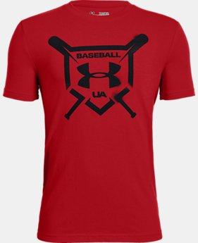 Boys' UA Baseball Squad Short Sleeve Shirt  2  Colors Available $20