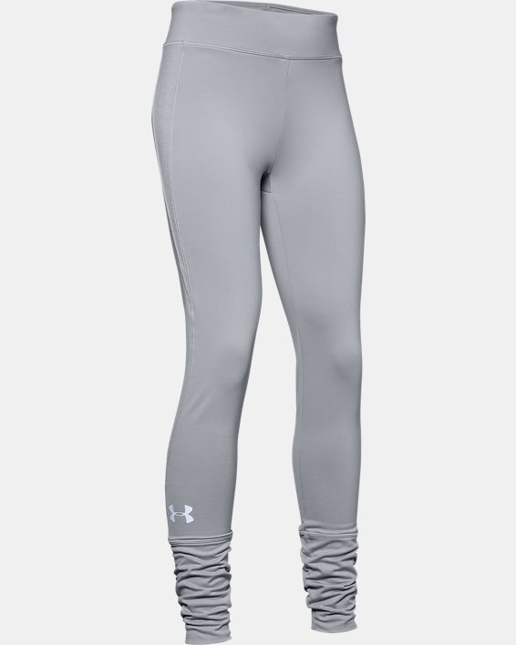 Girls' ColdGear® Leggings, Gray, pdpMainDesktop image number 4