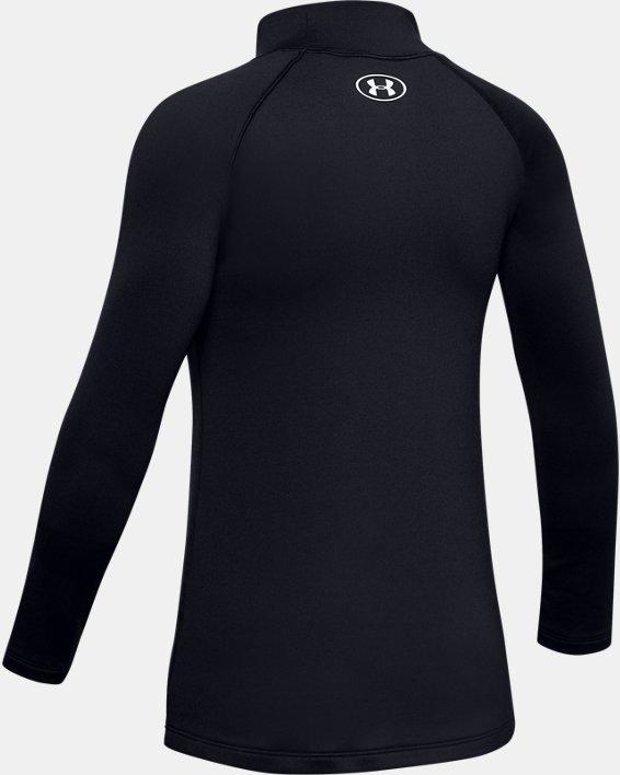 Girls' ColdGear® Long Sleeve Mock, Black, pdpMainDesktop image number 5