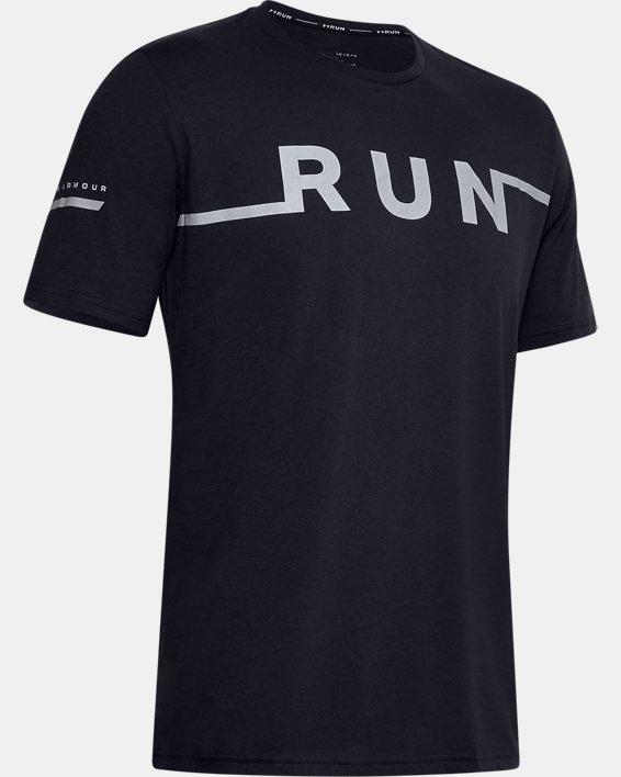 Men's UA Run T-Shirt, Black, pdpMainDesktop image number 4