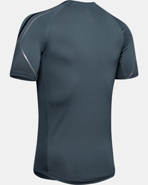 Men's UA RUSH™ Graphic Short Sleeve, Gray, pdpMainDesktop image number 5