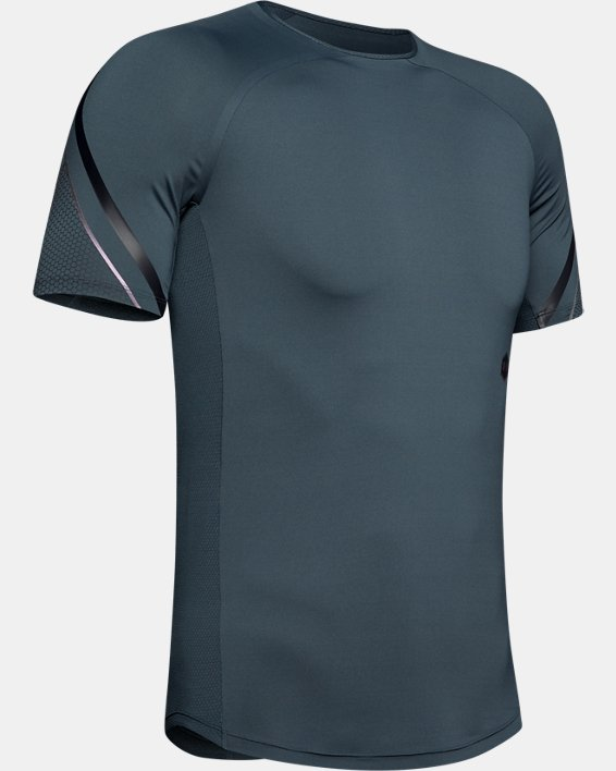 Men's UA RUSH™ Graphic Short Sleeve, Gray, pdpMainDesktop image number 4