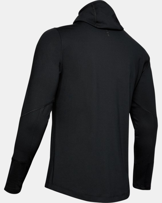 Men's UA RUSH™ ColdGear® Hoodie, Black, pdpMainDesktop image number 4