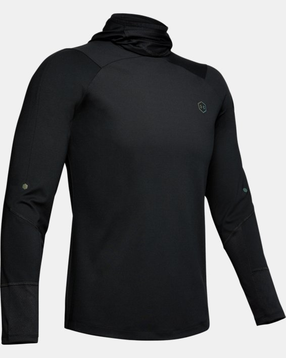 Men's UA RUSH™ ColdGear® Hoodie, Black, pdpMainDesktop image number 3