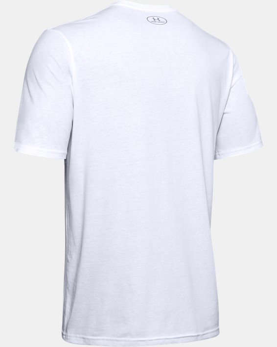 Men's UA Boxed Sportstyle T-Shirt, White, pdpMainDesktop image number 5