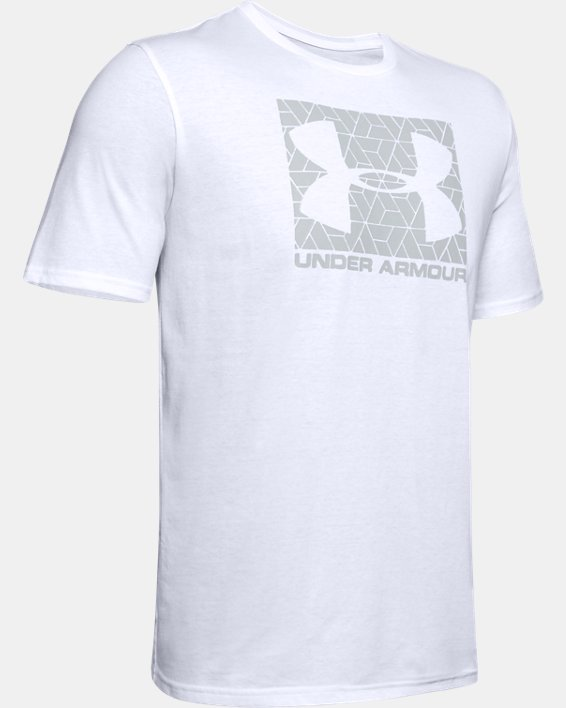 Men's UA Boxed Sportstyle T-Shirt, White, pdpMainDesktop image number 4
