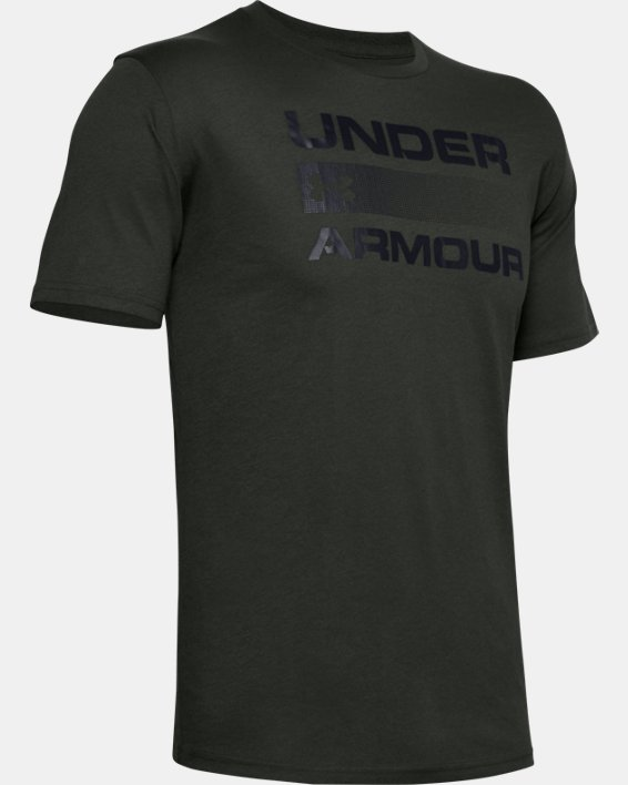 Men's UA Team Issue Graphic T-Shirt, Green, pdpMainDesktop image number 4