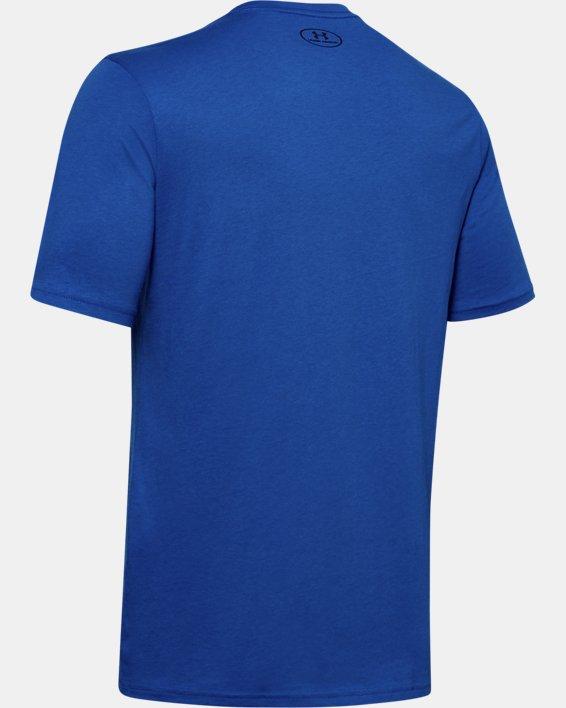 Men's UA Team Issue Graphic T-Shirt, Blue, pdpMainDesktop image number 5