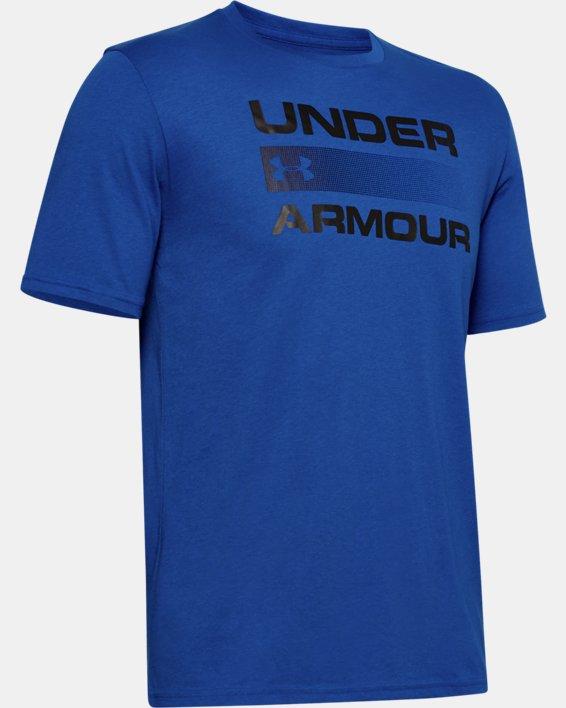 Men's UA Team Issue Graphic T-Shirt, Blue, pdpMainDesktop image number 4