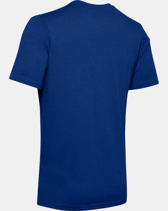 Men's UA Left Chest Lockup T-Shirt, Blue, pdpMainDesktop image number 5