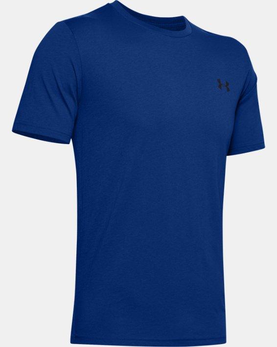 Men's UA Left Chest Lockup T-Shirt, Blue, pdpMainDesktop image number 4