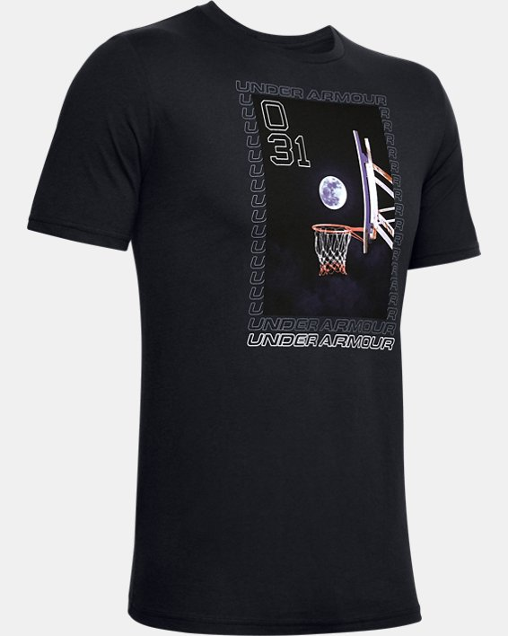 Men's UA Full Moon Graphic T-Shirt, Black, pdpMainDesktop image number 4