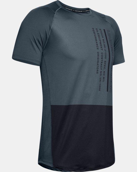 Men's UA MK-1 Colorblock Short Sleeve, Gray, pdpMainDesktop image number 4