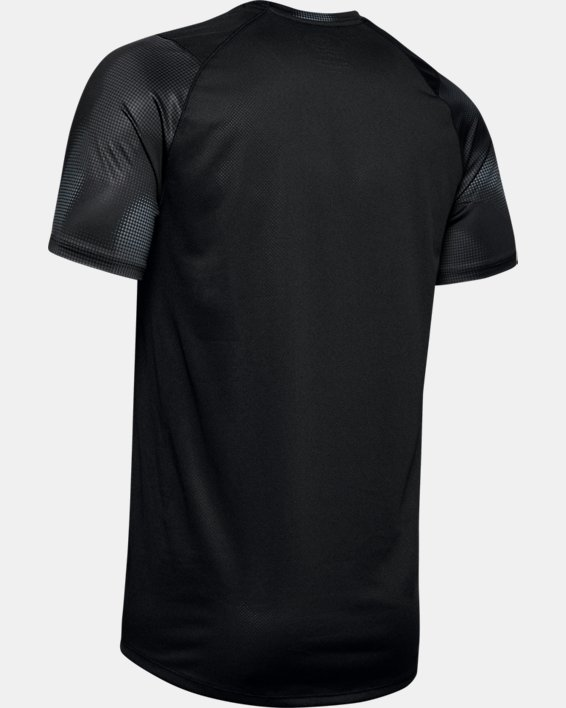 Men's UA MK-1 Printed Short Sleeve, Black, pdpMainDesktop image number 4