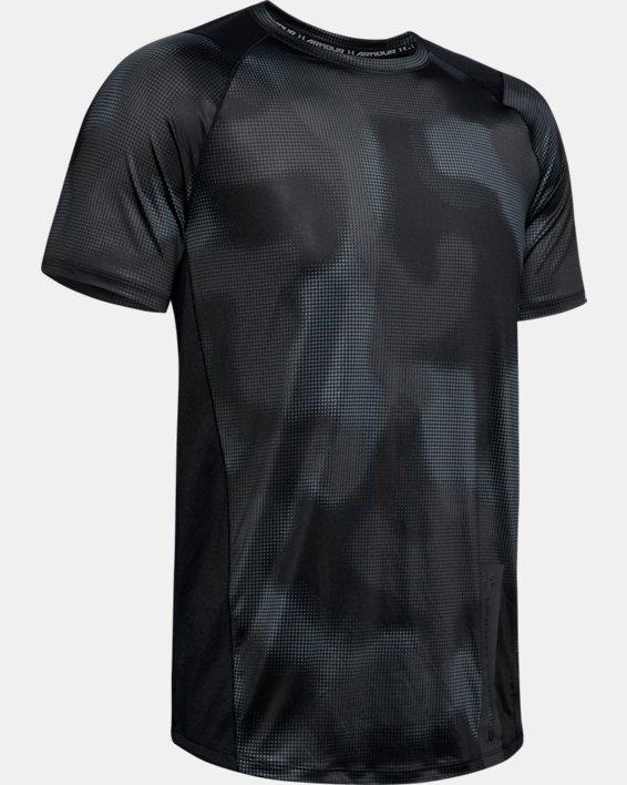 Men's UA MK-1 Printed Short Sleeve, Black, pdpMainDesktop image number 3