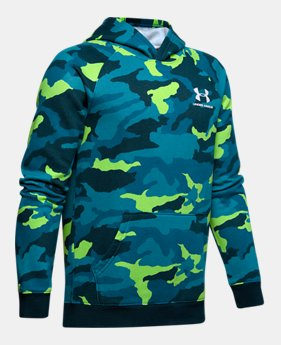 2738e02d8 New Arrival Boys' UA Rival Printed Hoodie 5 Colors Available $45