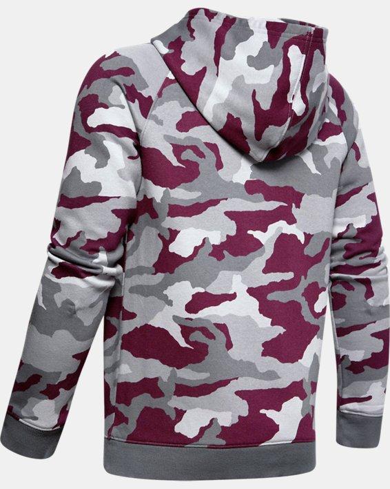 Boys' UA Rival Printed Hoodie, Purple, pdpMainDesktop image number 1