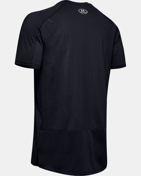 Men's UA MK-1 Emboss Short Sleeve, Black, pdpMainDesktop image number 4