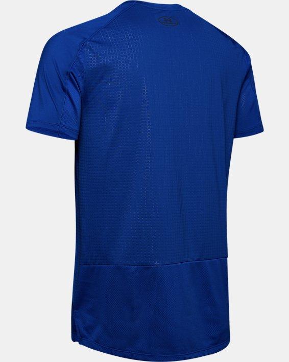 Haut à manches courtes UA MK-1 Emboss pour homme, Blue, pdpMainDesktop image number 4