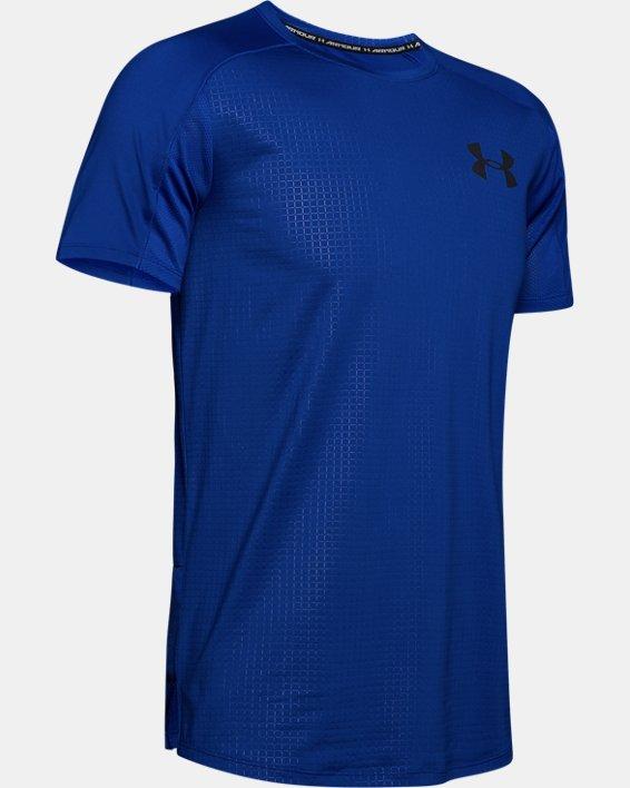 Haut à manches courtes UA MK-1 Emboss pour homme, Blue, pdpMainDesktop image number 3