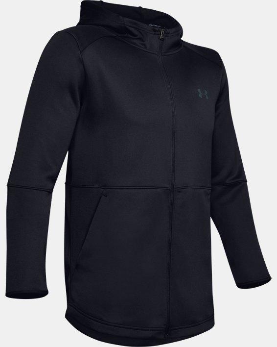 Men's UA MK-1 Warm-Up Full Zip Hoodie, Black, pdpMainDesktop image number 4