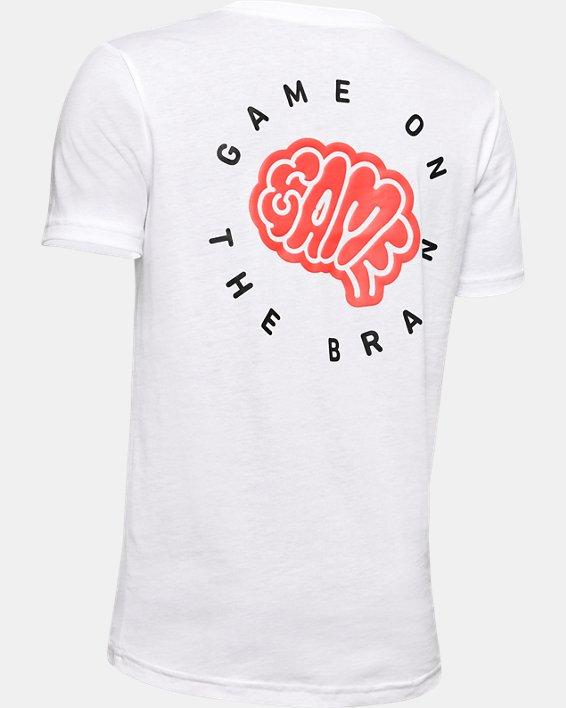 Boys' UA Game on the Brain Short Sleeve, White, pdpMainDesktop image number 5