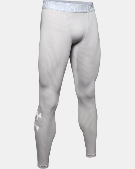 Men's ColdGear® Armour Leggings, Gray, pdpMainDesktop image number 4
