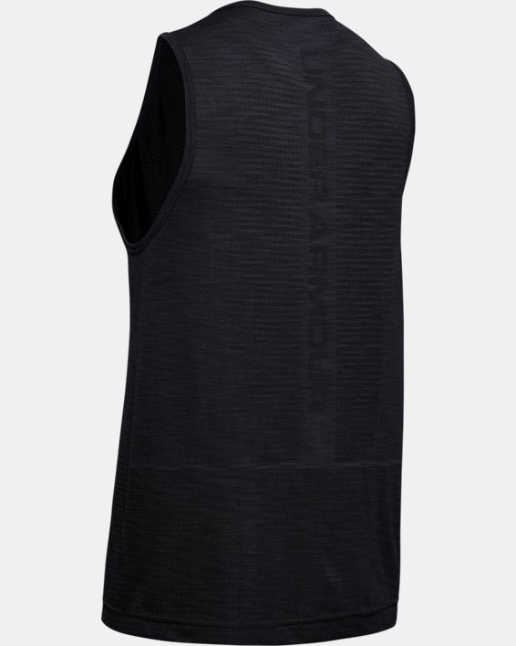 Men's UA Vanish Seamless Tank, Black, pdpMainDesktop image number 4
