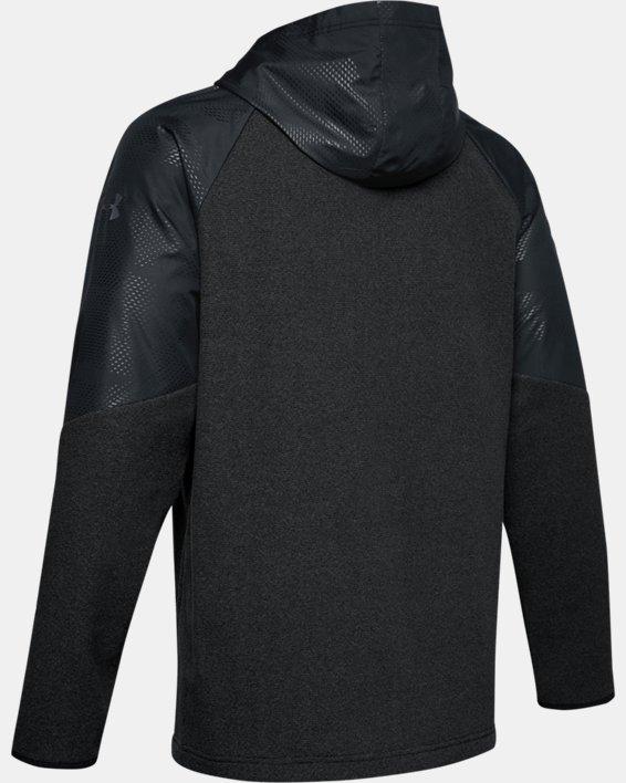 Men's ColdGear® Infrared Full Zip Hoodie, Black, pdpMainDesktop image number 4