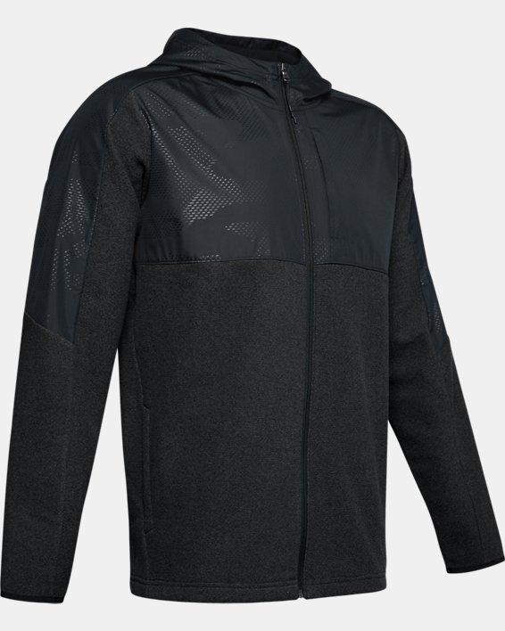 Men's ColdGear® Infrared Full Zip Hoodie, Black, pdpMainDesktop image number 3