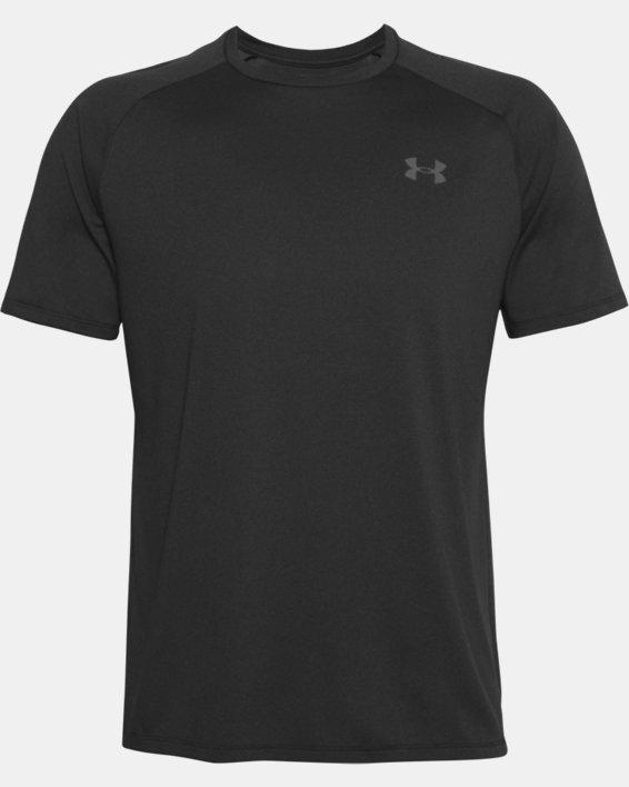 Men's UA Tech™ 2.0 Short Sleeve T-Shirt, Black, pdpMainDesktop image number 6