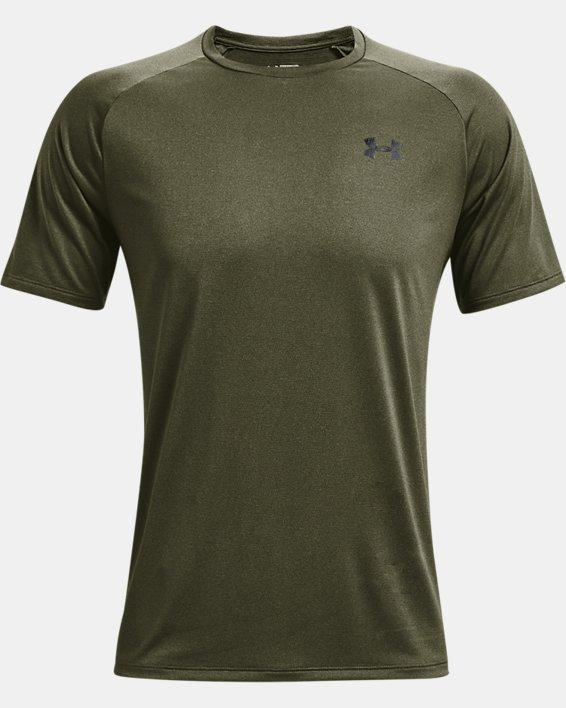 Men's UA Tech™ 2.0 Short Sleeve T-Shirt, Green, pdpMainDesktop image number 4