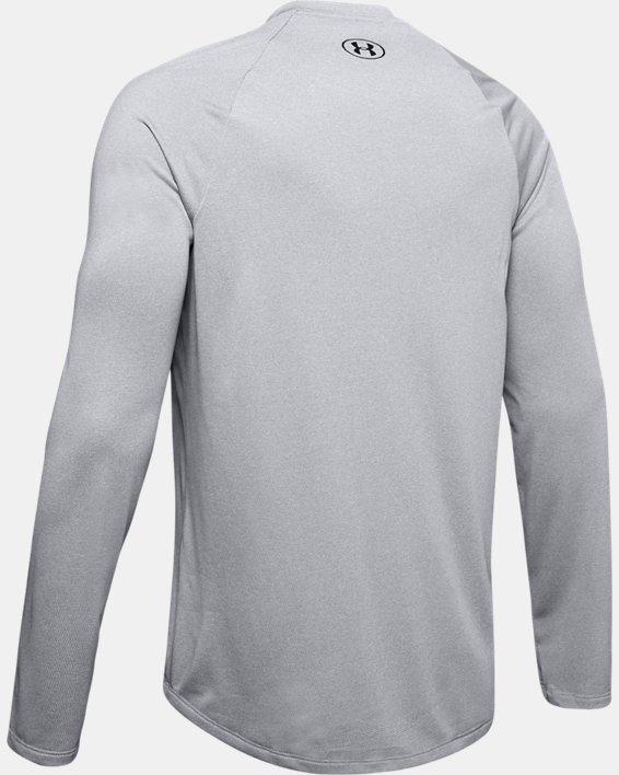 Men's UA Tech™ Long Sleeve, Gray, pdpMainDesktop image number 5