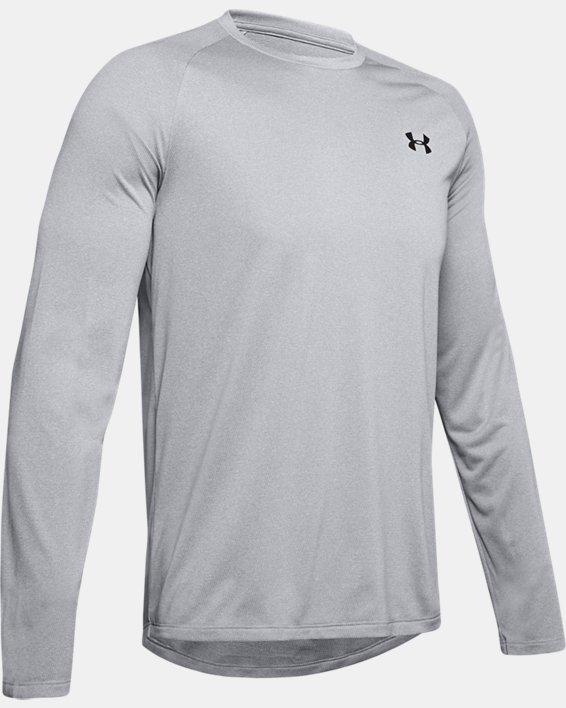 Men's UA Tech™ Long Sleeve, Gray, pdpMainDesktop image number 4