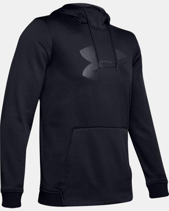 Men's Armour Fleece® Big Logo Graphic Hoodie, Black, pdpMainDesktop image number 4